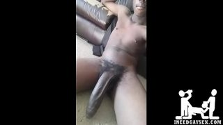Stroking Big Black Dick -INEEDGAYSEX.com